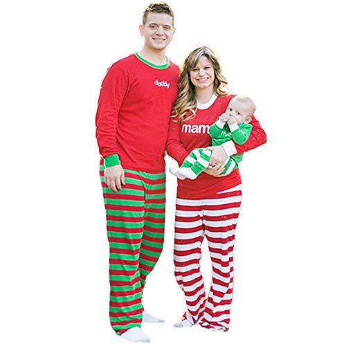 Männer Frauen Damen Mädchen Familien Mamma Weihnachtspyjamas PJs Hemd-Hosen stellt 2Pcs Schlaf-Nachtwäsche EIN Warmer Familienanzug Frohe Weihnachten FRAUIT (Mädchen Weihnachten Pjs)