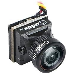 HankerMall Mini FPV caméra Caddx Turbo EOS2 4: 3 1200TVL 2.1mm FOV 160 degrés 1/3 CMOS PAL Micro Mini caméra FPV Noire pour FPV Quadcopter Racing Drone
