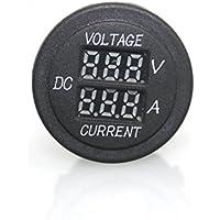 Voltmetro Amperometro, lanowo 2in 1digitale voltmetro Ammeter Tensione 12V/24V Rosso