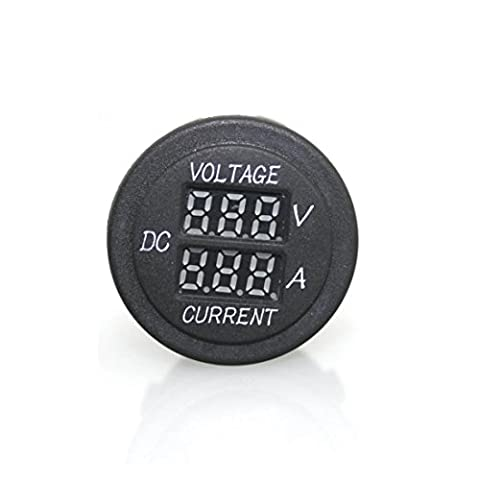 Voltmeter Ammeter,Lanowo 2 in 1 Digital Voltmeter Ammeter Voltage Current 12V/24V Red LED Panel Volt Amp Tester for Battery Auto Car Motorcycle Ebike Boat