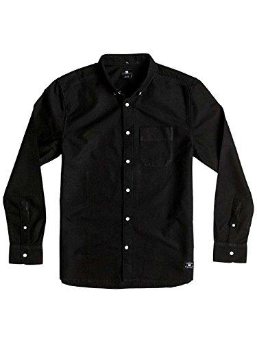 Camicia A Maniche Lunghe Dc Oxford Ls3 Nero (M , Nero)