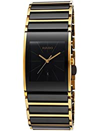 Rado Integral Black Ceramic & Gold PVD Coated Steel Mens Watch Calendar R20787162