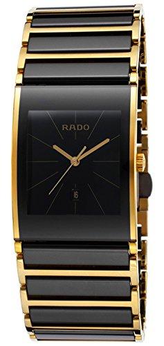 Rado Integral Black Ceramic & Gold PVD Coated Steel Mens Watch Calendar R20787162