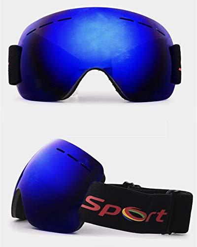 Yiph-Sunglass Sonnenbrillen Mode Neue Skibrille Anti-Fog und Sand-Beweis große sphärische Brille für Männer und Frauen Erwachsene Klettern Schneebrille (Color : Blue)