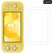 AHABIPERS 2 Pack Tempered Glass Compatible with Nintendo Switch Lite Screen Protector, Easy Bubble-Free Installation, 9H Hardness, 99.99% HD Clarity Tempered Glass Protector for Switch Lite