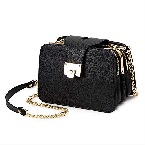 Leder Flap Shoulder Bag (FMWLKJWomen's Shoulder Bag Chain with Flap Designer Handbag Clutch Lady Messenger Bag with Metal Buckle)