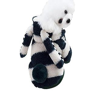 Vêtement Chien/Chat Angelof Manteau Pull D'Hiver Animaux Choit VêTements De Chien D'Animal Familier Grandes Oreilles Lapin Corail Polaire