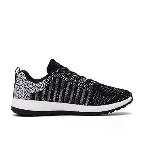Herren Laufschuhe Sportschuhe Mode Atmungsaktiv Lässige Schuhe draussen Ausbilder Black