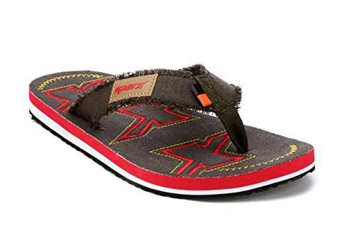 Sparx Men's Olive Red Canvas Hawaii House Slippers (SF2073G)-6 UK  available at amazon for Rs.404