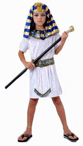 EGYPTIAN PHARAOH FANCYDRESS COSTUME OUTFIT PRINCE