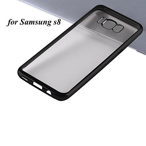 Samsung Galaxy S8 Hülle Samsung Galaxy S8 Schutzhülle, Dimi Samsung S8 Transparent Handyhülle Ultra Dünn Handyhülle Plating Soft Flex TPU Handyhülle für Samsung Galaxy S8 Case Cover, Samsung S8 Case Cover Transparent Schwarz