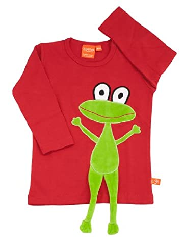 LipFish T-Shirt Frosch Rot Langarm, Groesse 98