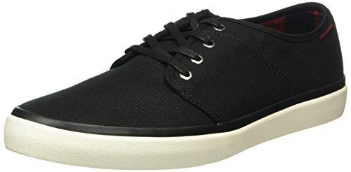 JACK & JONES Herren Jfwturbo Waxed Canvas Sneaker Sneakers Grau (Anthracite)