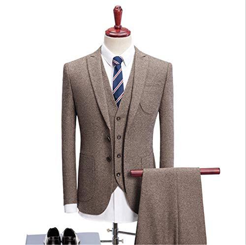 UNIQUE-F Elegante Herren 3 Stück Custom Fit für einen kompletten Anzug Classic Business Hochzeitsfeier formelle Anlässe Slim Exquisite XXXXL -