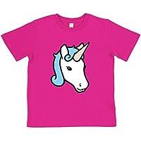 Paw Prints Kids' Unicorn T-Shirt | Blue Or Pink | Organic Cotton | by