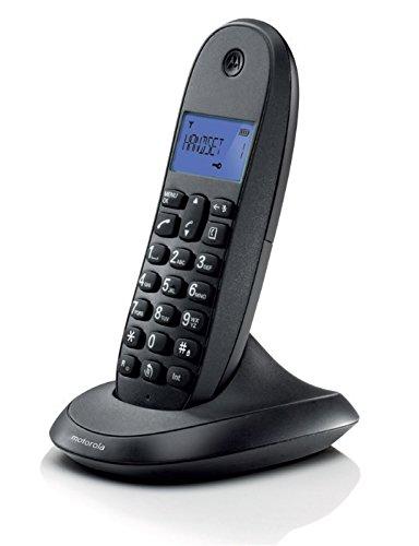 MOTOROLA CORDLESS LANDLINE PHONE C1001LBI BLACK