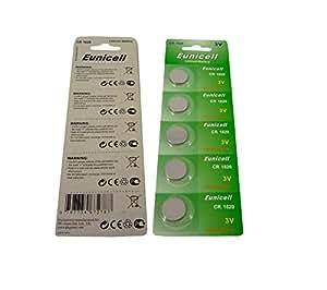 Eunicell Lot de 5 piles boutons CR1620 Pile bouton au Lithium 3 V
