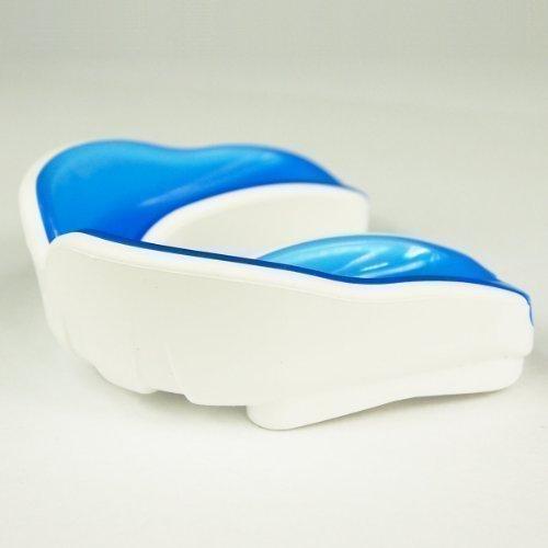 Mundschutz - Single, Geleinlage, blau/weiß, verschiedene Größen