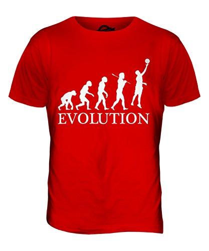 CandyMix Netball Evolution Des Menschen Herren T Shirt Rot