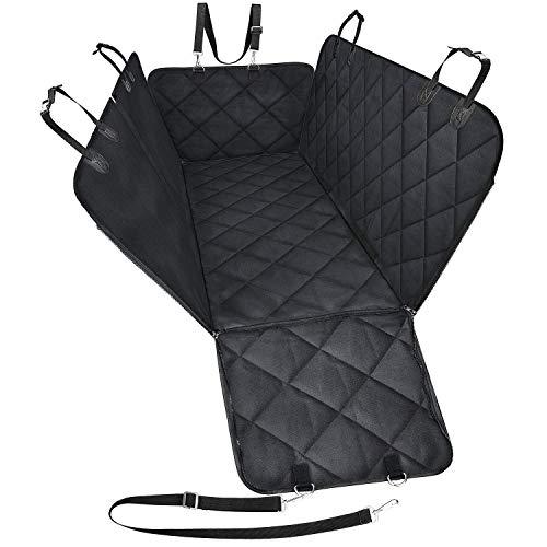 IW.HLMF Haustier-Auto-Hundesitz-Abdeckung-Hängematten-Mat Rear Seat Cotton, wasserdicht mit Seitenklappen und dauerhaftem Anti-Kratzern rutschfestem Maschinen-waschbarem Haustier-Sitz-Cover -