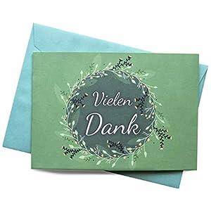 25 Dankeskarten & 25 Umschläge – Klappkarten SET, Hochzeit, Taufe, Konfirmation, Kommunion, Ruhestand, Geburt…