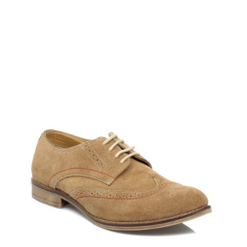 J.G.Harrisons Hommes brun Stitch suède chaussures Tan