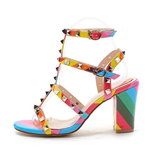 <span class='b_prefix'></span> NIUERTE Women's High Heel Pumps Buckle Dress Sandals