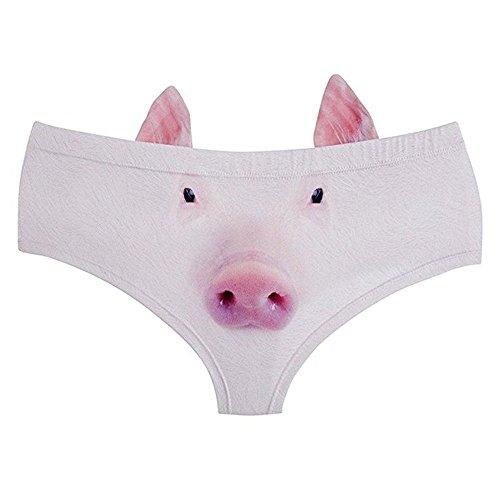 DUOLAIMENG Damen Taillenslip Medium schwein