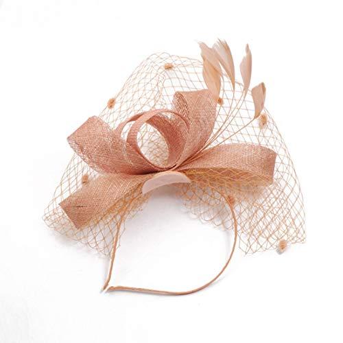 Dromensho Damen-Tageshut-Elegante Blumen-Feder-Stirnband-Hut Fascinator-Hochzeits-Kopfbedeckung Cocktail Race Royal Ascot -