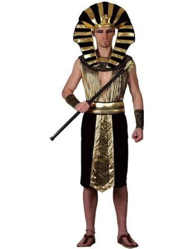 Ägyptischer Pharao Kostüm für Herren - Gold, Schwarz - XL (Gr. - Herren-film-kostüme