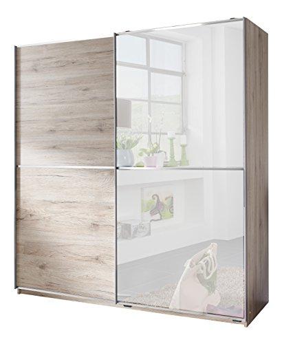 Wimex X11770 Schwebetürenschrank, Holz, chrom, 64 x 135 x 198 cm