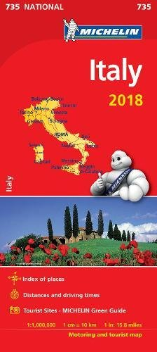 Italy 2018 National Map 735 2018