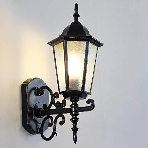 Lampe Wandleuchte Wandlampen Aussenlampe Amerikanischen Balkon Korridor Wasserdichte Außenwandleuchte Gartenlampe Retro-Außengang Dekoration Persönlichkeit Wandleuchte Zu Hause @ [Bronz