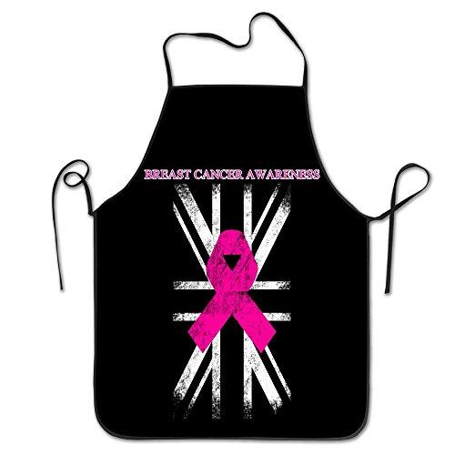 Breast Cancer Awareness UK Flag Unisex Cooking Kitchen Aprons Chef Apron Bib