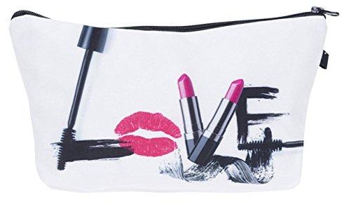 Kukubird Girls Printed Make Up Bag Wash Bag Toiletry Cosmetics Wallet Pencil Pen Holder Organiser...