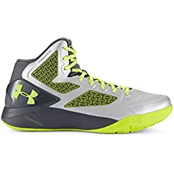Under Armour de los hombres ClutchFit Drive II Basketball Shoes UK 15 (Euro 50.5) Metallic Silver-041