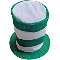 BESTOYARD Top Hat St.Patricks Day White Green Stripes Festival irlandés  Sombrero Disfraz Gorra b6d4740613f