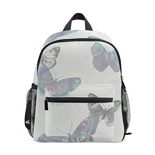 Lupinz - zaino per bambini pre-scuola con farfalle, colore chiaro
