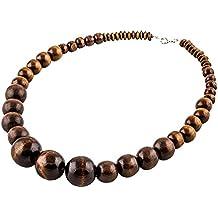 collier perle bois noir
