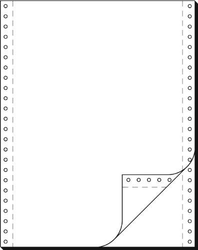 91200 Endlospapier 2-fach, 12 Zoll x 240 mm (A4 hoch), 52/52 g, 1000 Sätze LP, SD