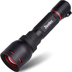 Zeelec® Linterna LED de alta potencia, portátil, linterna para exteriores, para camping, senderismo, caza, mochila, pesca, barbacoa y EDC