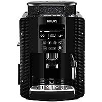 Krups YY8135FD Machine à Café Automatique avec Broyeur à Grains Essential Ecran LCD Cafetière Café Grains Pression 15 Bars Thermoblock Espresso Noir