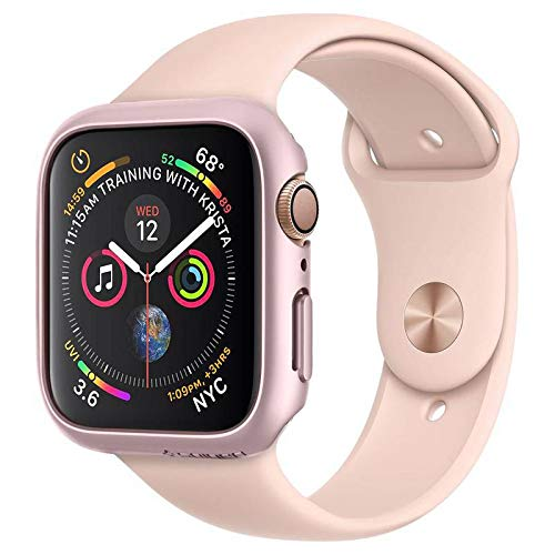 Spigen Apple Watch Funda, Thin Fit diseñado para Apple Watch 40mm Series 5 / Series 4 Case - Rose Gold