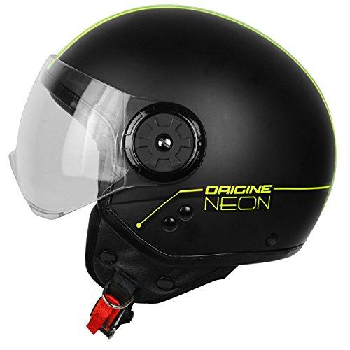 Preisvergleich Produktbild Herkunft Helmets 201585029400103 Neon Street Helm Demi Jet,  Gelb,  S