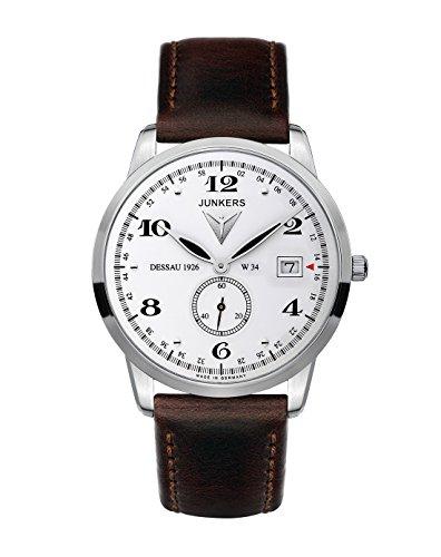 Junkers FlatLine Men's Quartz Watch Analogue XL Leather 63341