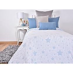 Tiendas Mi Casa Colcha ESTRELLITAS. (Azul, cama 105 cm (200x270 cm))