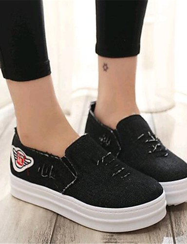 ZQ Scarpe Donna-Mocassini-Tempo libero / Casual-Creepers-Plateau-Denim-Nero / Blu , dark blue-us9 / eu40 / uk7 / cn41 , dark blue-us9 / eu40 / uk7 / cn41 dark blue-us7.5 / eu38 / uk5.5 / cn38