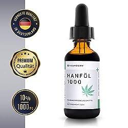 Neurogan´s Hanföl-Extrakt 1000MG / für inneres Wohlbefinden, schöne Haut & Haare / 50ml / gewonnen aus CO2-Extraktion/THC-frei/voller Mineralien, Terpene, Vitamine, Omega 3, 6 und 9