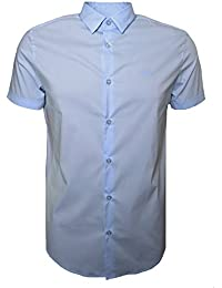 Armani Jeans Men's Blue Short Sleeve Shirt
