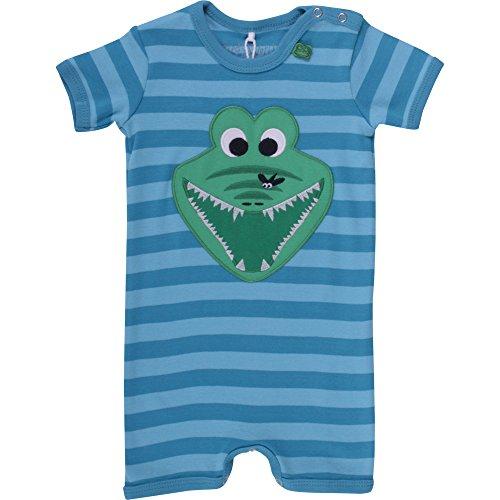 Fred'S World By Green Cotton Crocodile Stripe Beach Body, Bébé garçon, Bleu-Blau (Blue 017443200), 6 Mois